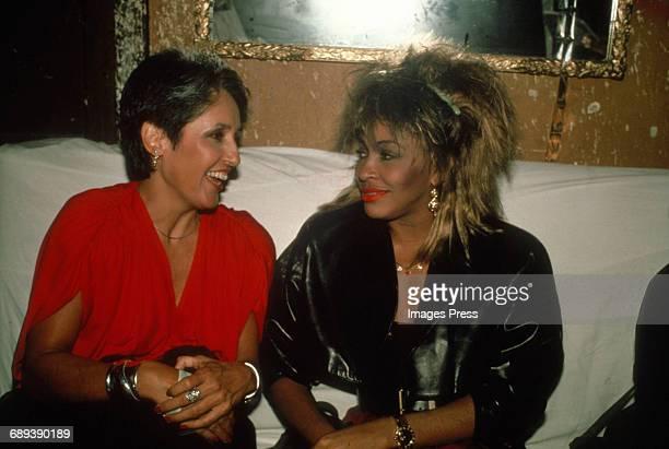 Joan Baez and Tina Turner circa 1985 in New York City