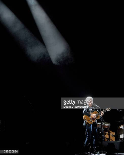 Joan Baez performs during her Fare Thee Well tour at the Beacon Theatre on the first of two sold out nights before retiring from touring on September...