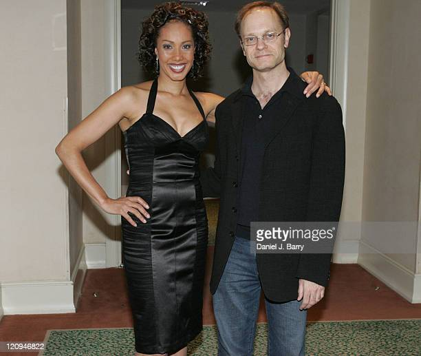 """Joan Baker, author and David Hyde Pierce during """"Secrets of Voice-Over Success"""" Book Launch Party with David Hyde Pierce - June 3, 2005 at The..."""