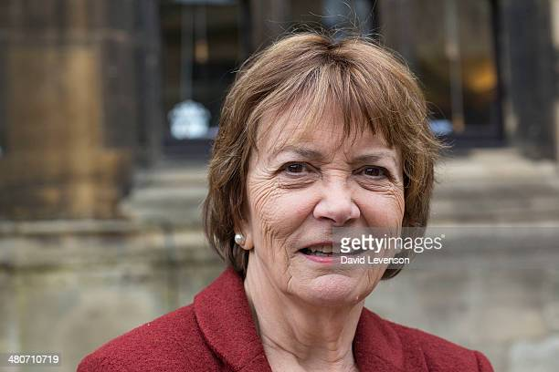 Joan Bakewell journalist and television presenter on Day 5 of the FT Weekend Oxford Literary Festival on March 26 2014 in Oxford England