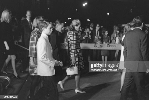Joan Bennett Kennedy the wife of Ted Kennedy at the funeral of her brotherinlaw assassinated US Senator Robert F Kennedy at Saint Patrick's Cathedral...