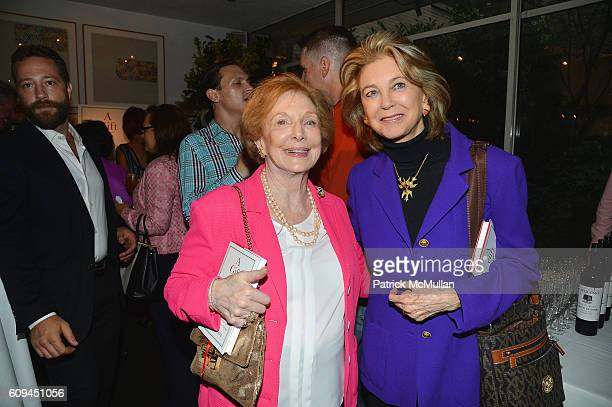 Joan Benny and Maria Cooper Janis attend the Cocktail Reception at Michael's for Tony Cointreau's New Book A Gift of Love at Michael's Restaurant on...
