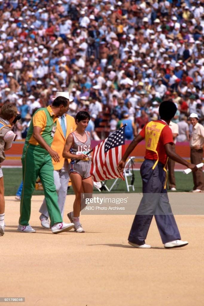 Women's Track Marathon Competition At The 1984 Summer Olympics : News Photo