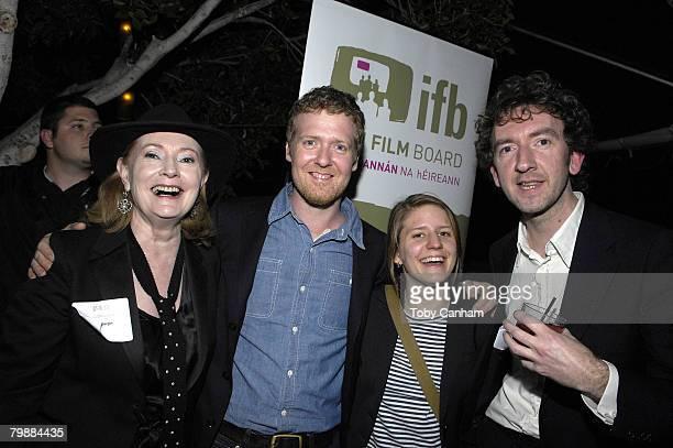 Joan BerginGlen Hansard Marketa Irglova and director John Carney pose for a picture at the Irish Film Board and Hollywood Reporter PreOscar Event...