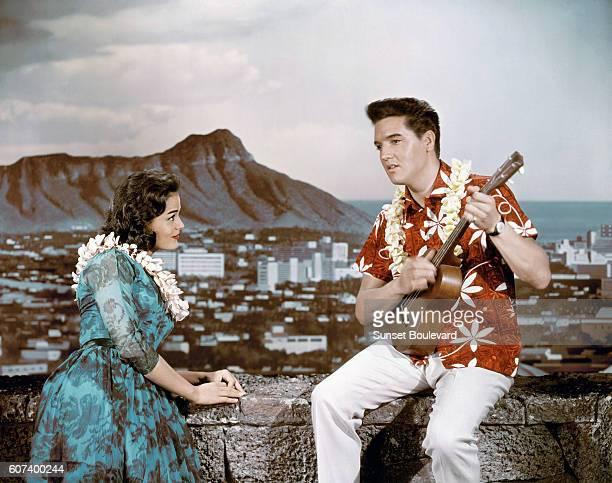 Joan Blackman and Elvis Presley in Blue Hawaii