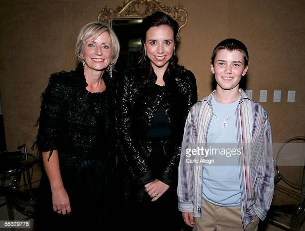 Joan Brehl Publishing Director of Time Canada Publishing Group, Jane Boone Pearlstine and actor Cameron Bright pose for a photo as they attend the...