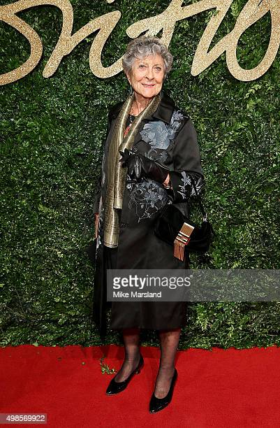 Joan Burstein attends the British Fashion Awards 2015 at London Coliseum on November 23 2015 in London England