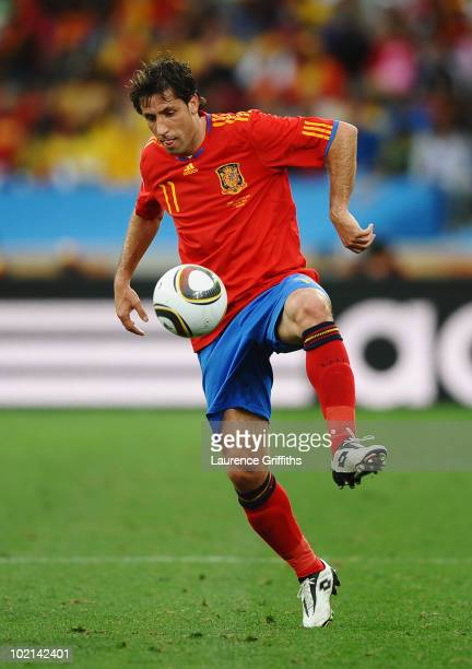 Joan Capdevila of Spain controls the ball during the 2010 FIFA World Cup South Africa Group H match between Spain and Switzerland at Durban Stadium...