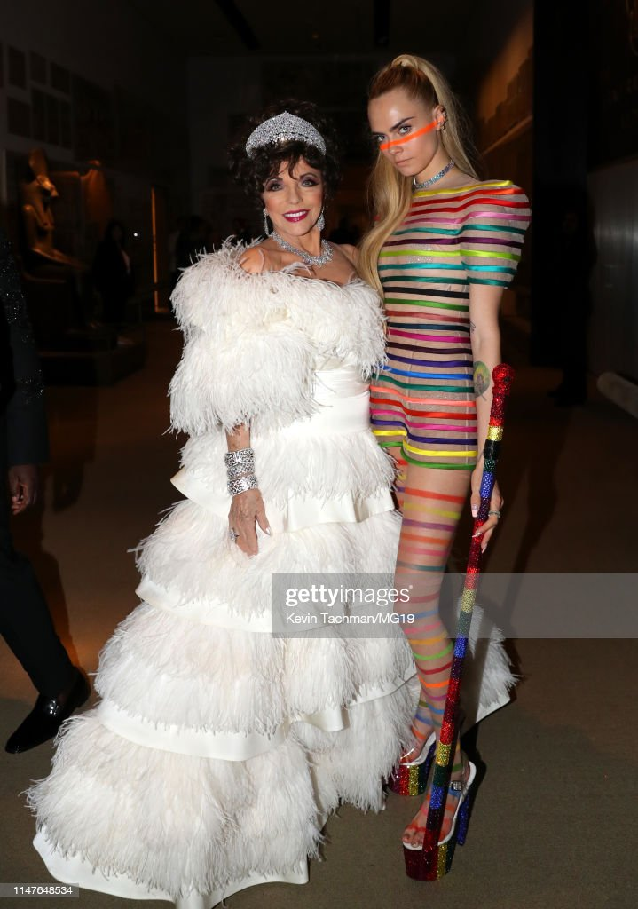 Joan Collins And Cara Delevingne Attends The 2019 Met Gala News
