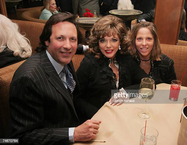 Joan Collins and daughter Katyana Kass and husband Percy Gibson at the Colors on Bedford in Beverly Hills California
