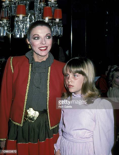 Joan Collins and Daughter Katyana Kass during Young Musicians Foundation's MotherDaughter Fashion Show March 10 1982 at Beverly Hills Hotel in...