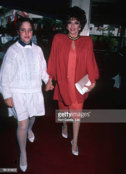 Joan Collins and Daughter Katyana Kass