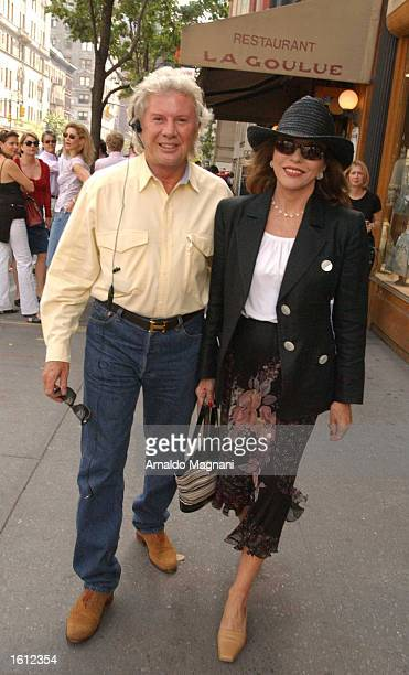 Joan Collins and Gary Putny are seen after lunch at La Goulue restaurant October 5 2002 in New York City