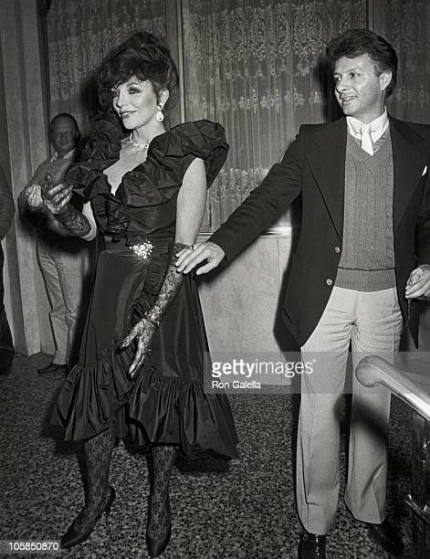 Joan Collins and guest during 'Dynasty' Wrap Party at Beverly Wilshire Hotel in Beverly Hills California United States