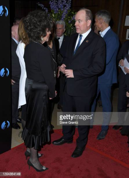 Joan Collins and HSH Prince Albert II Of Monaco Hosts 60th Anniversary Party For The MonteCarlo TV Festival at Sunset Tower Hotel on February 05 2020...