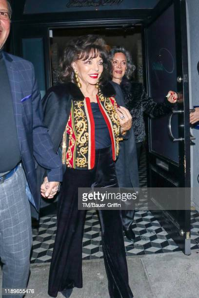 Joan Collins and Jolene Brand are seen on December 19 2019 in Los Angeles California