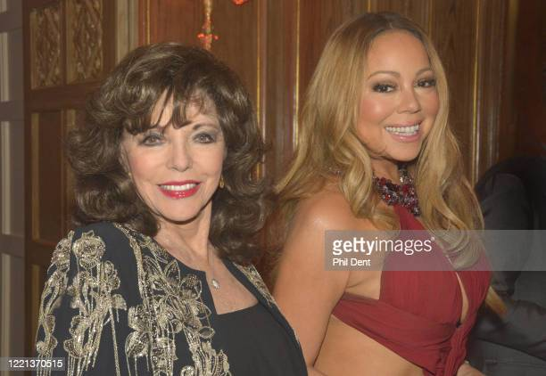 Joan Collins and Mariah Carey at an event London 2016