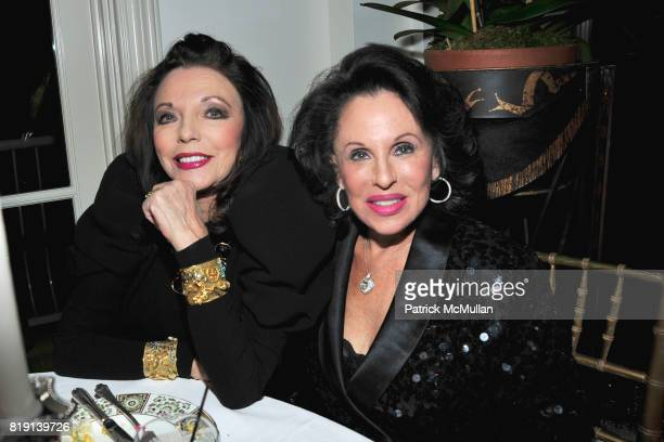 Joan Collins and Nikki Haskell attend ALEX HITZ Party at Private Residence on March 6 2010 in Hollywood California