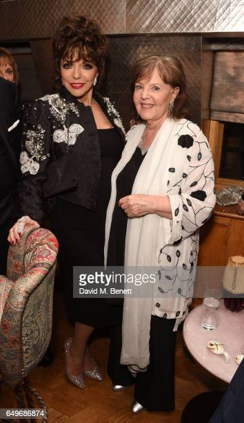 Joan Collins and Pauline Collins attend the World Premiere after party for 'The Time Of Their Lives' at 5 Hertford Street on March 8 2017 in London...