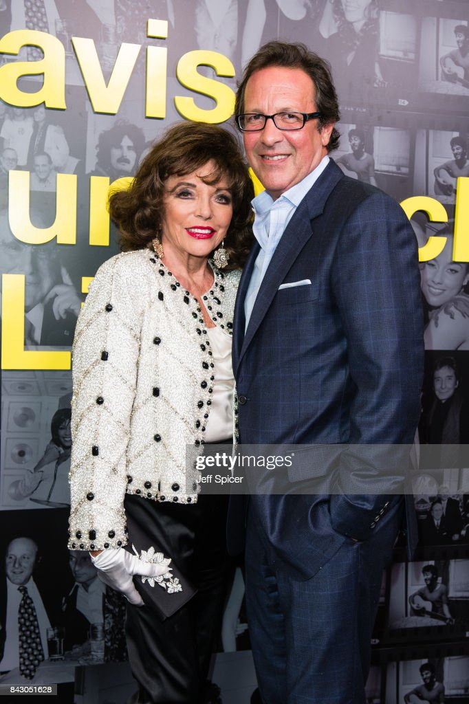 Joan Collins and Percy Gibson attend the Clive Davis: 'Soundtrack Of Our Lives' special screening at The Curzon Mayfair on September 5, 2017 in London, England.