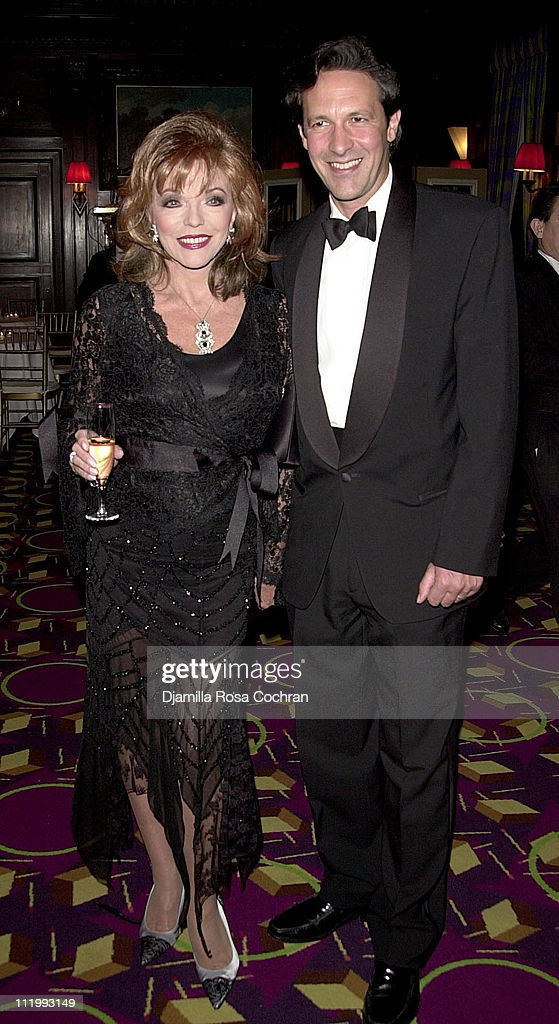 Joan Collins and Percy Gibson during New York Oscar Night Party at Le Cirque 2000 in New York City, New York, United States.
