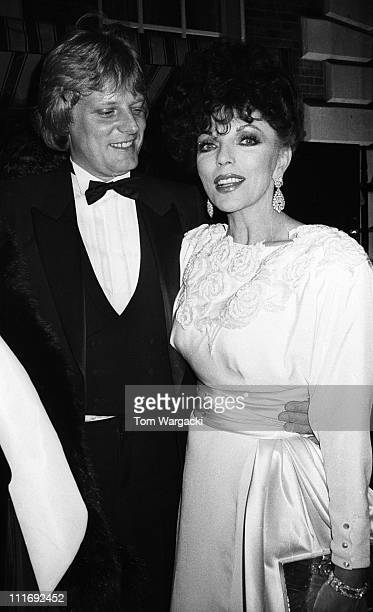 Joan Collins and Peter Holm during Joan Collins and Peter Holm at Private Party in Mayfair May 1985 in London Great Britain