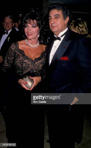 Joan Collins and Placido Domingo at the 1994 Carousel of Hope Ball Beverly Hilton Hotel Beverly Hills