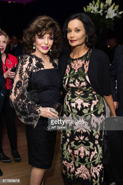 Joan Collins and Shakira Caine attend as auction house hosts champagne reception to preview a selection of the 1000lot estate of the late author...
