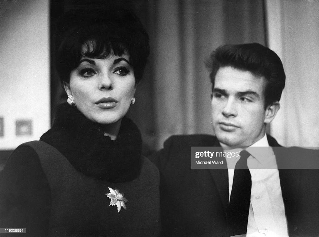 Joan Collins and Warren Beatty, April 1999.