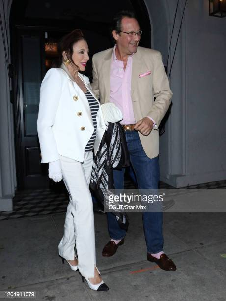 Joan Collins are Percy Gibson are seen on March 3 2020 in Los Angeles California