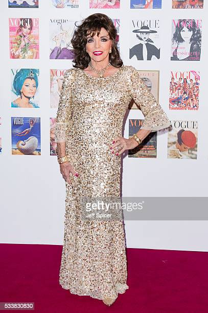 Joan Collins arrives for the Gala to celebrate the Vogue 100 Festival at Kensington Gardens on May 23 2016 in London England