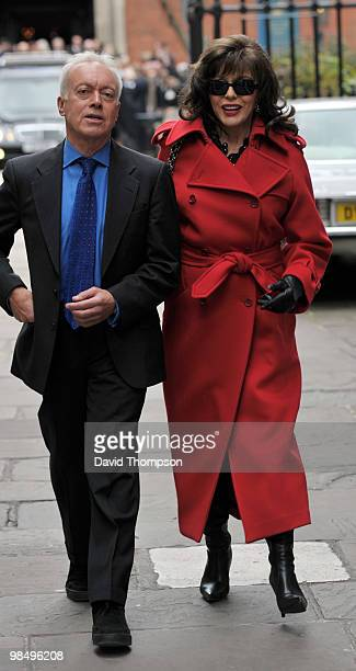 Joan Collins Attending the Funeral of Christopher Cazanove on April 16 2010 in London England