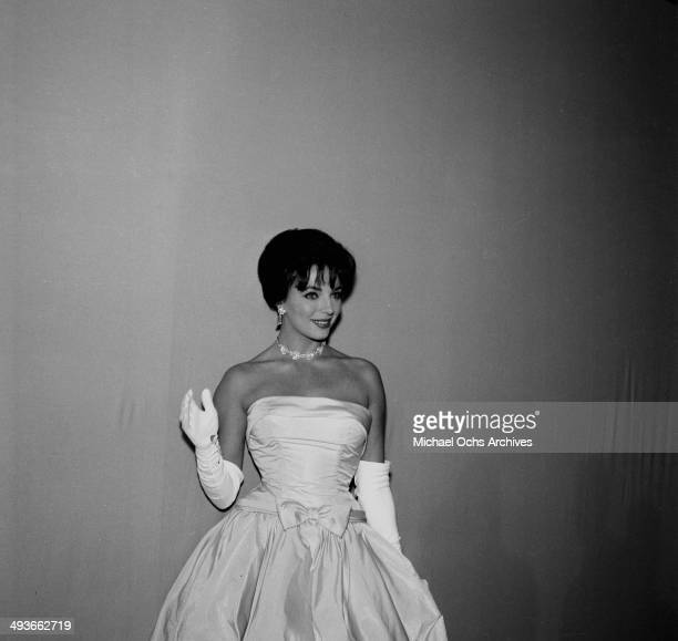 Joan Collins attends a party in Los Angeles California