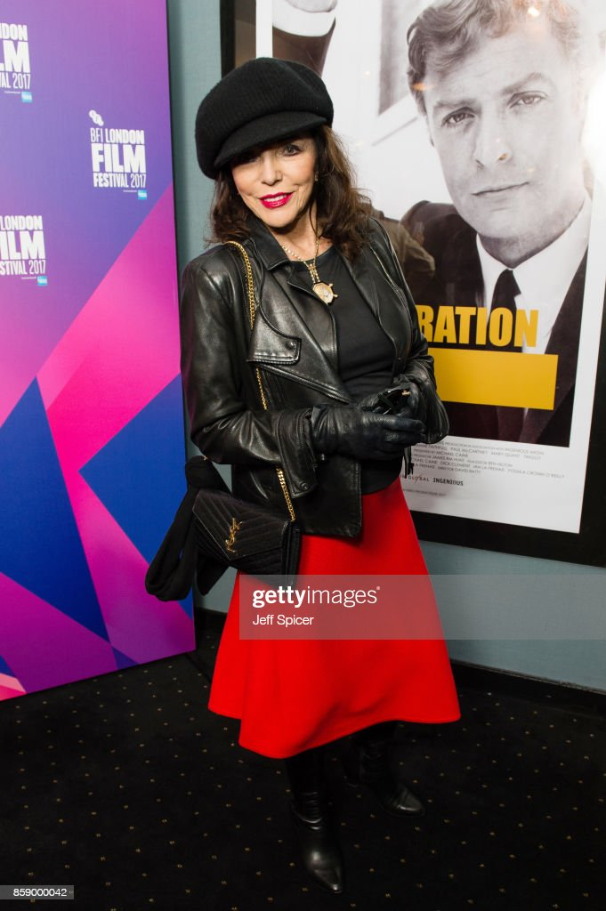 Joan Collins attends a screening of 'My Generation' during the 61st BFI London Film Festival on October 8, 2017 in London, England.