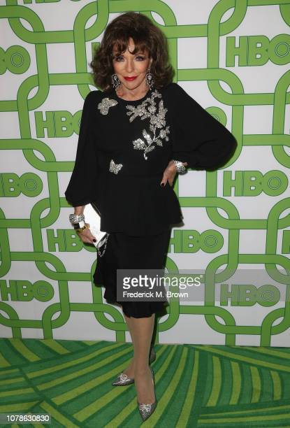 Joan Collins attends HBO's Official Golden Globe Awards After Party at Circa 55 Restaurant on January 6 2019 in Los Angeles California