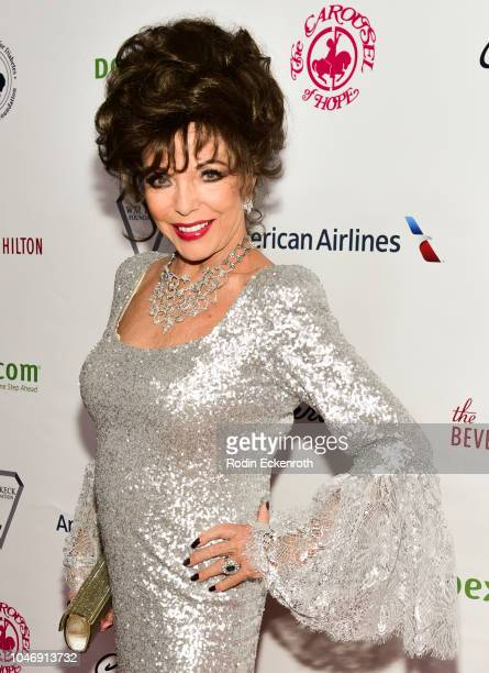 Joan Collins attends the 2018 Carousel of Hope Ball at The Beverly Hilton Hotel on October 6 2018 in Beverly Hills California