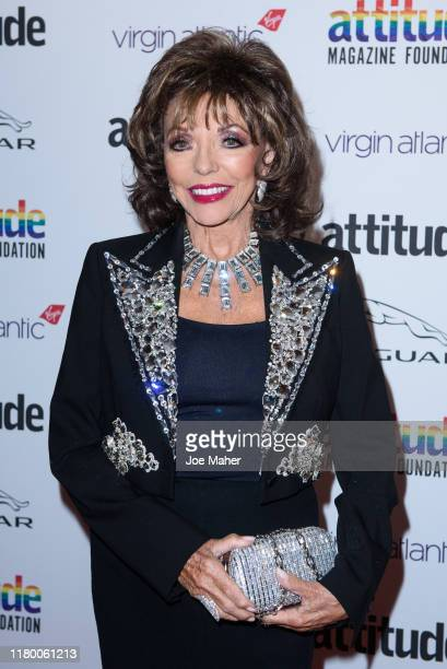 Joan Collins attends the 2019 Attitude Awards at The Roundhouse on October 09 2019 in London England