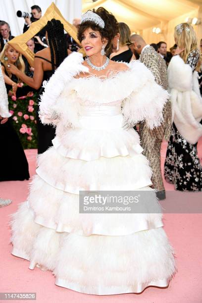 Joan Collins attends The 2019 Met Gala Celebrating Camp Notes on Fashion at Metropolitan Museum of Art on May 06 2019 in New York City