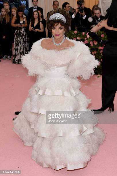 Joan Collins attends The 2019 Met Gala Celebrating Camp Notes On Fashion at The Metropolitan Museum of Art on May 06 2019 in New York City