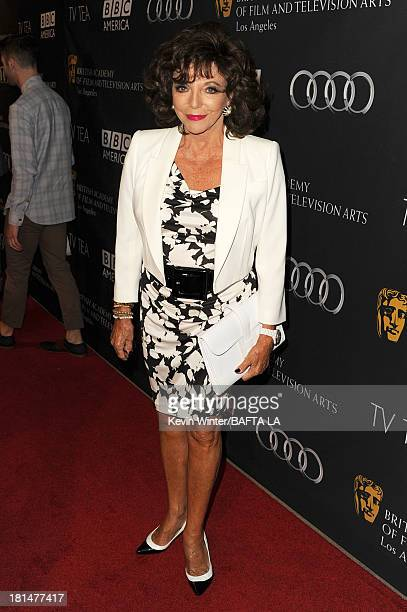 Joan Collins attends the BAFTA LA TV Tea 2013 presented by BBC America and Audi held at the SLS Hotel on September 21 2013 in Beverly Hills California