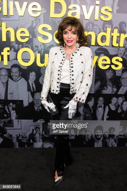 Joan Collins attends the Clive Davis 'Soundtrack Of Our Lives' special screening at The Curzon Mayfair on September 5 2017 in London England