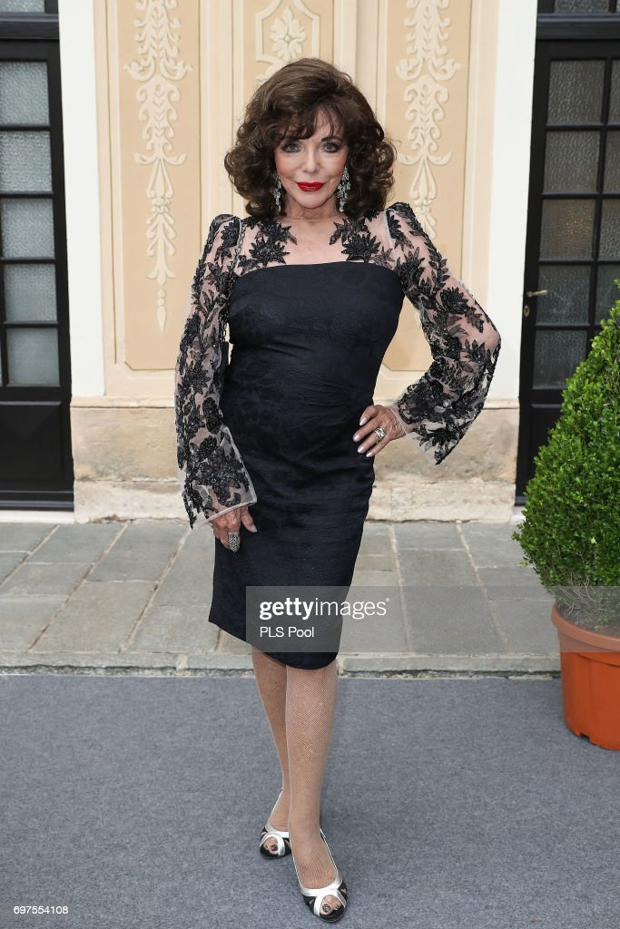 Joan Collins attends the cocktail party of the 57th Monte Carlo TV Festival at the Monaco Palace on June 18, 2017 in Monte-Carlo, Monaco.