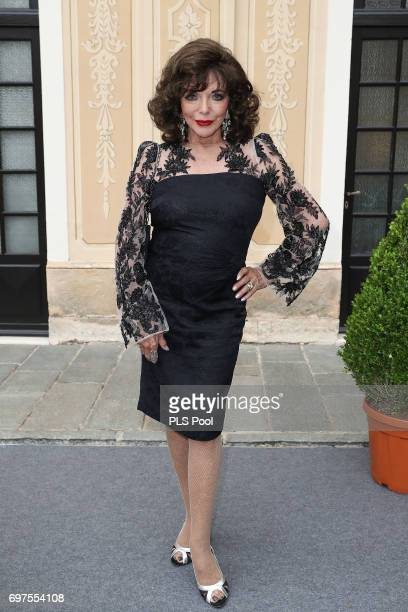 Joan Collins attends the cocktail party of the 57th Monte Carlo TV Festival at the Monaco Palace on June 18 2017 in MonteCarlo Monaco