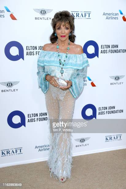 "Joan Collins attends the first ""Midsummer Party"" hosted by Elton John and David Furnish to raise funds for the Elton John Aids Foundation at the..."