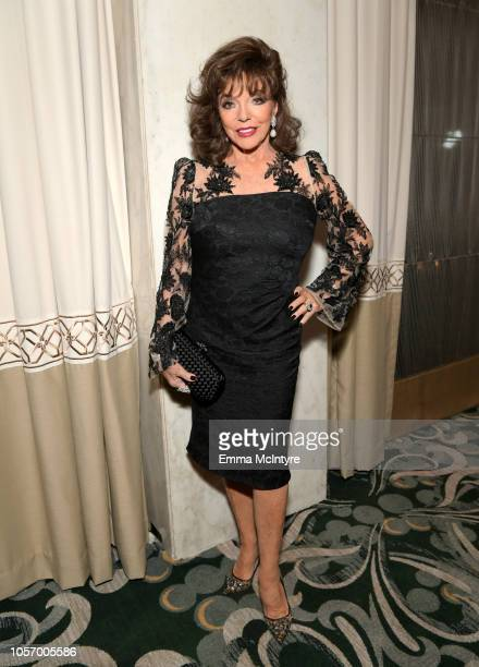 Joan Collins attends the GLSEN Respect Awards at the Beverly Wilshire Four Seasons Hotel on October 19 2018 in Beverly Hills California