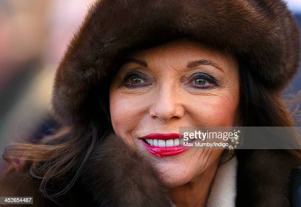 Joan Collins attends the Hennessy Gold Cup Race Day at Newbury Racecourse on November 30 2013 in Newbury England