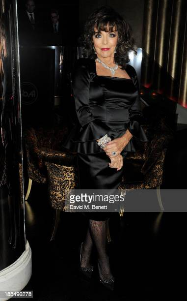 Joan Collins attends the launch of Joan Collins new book 'Passion For Life' at No41 Mayfair Club at The Westbury Hotel on October 21 2013 in London...