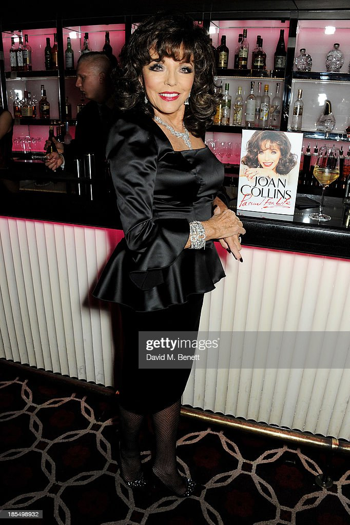 Joan Collins attends the launch of Joan Collins new book 'Passion For Life' at No.41 Mayfair Club at The Westbury Hotel on October 21, 2013 in London, England.