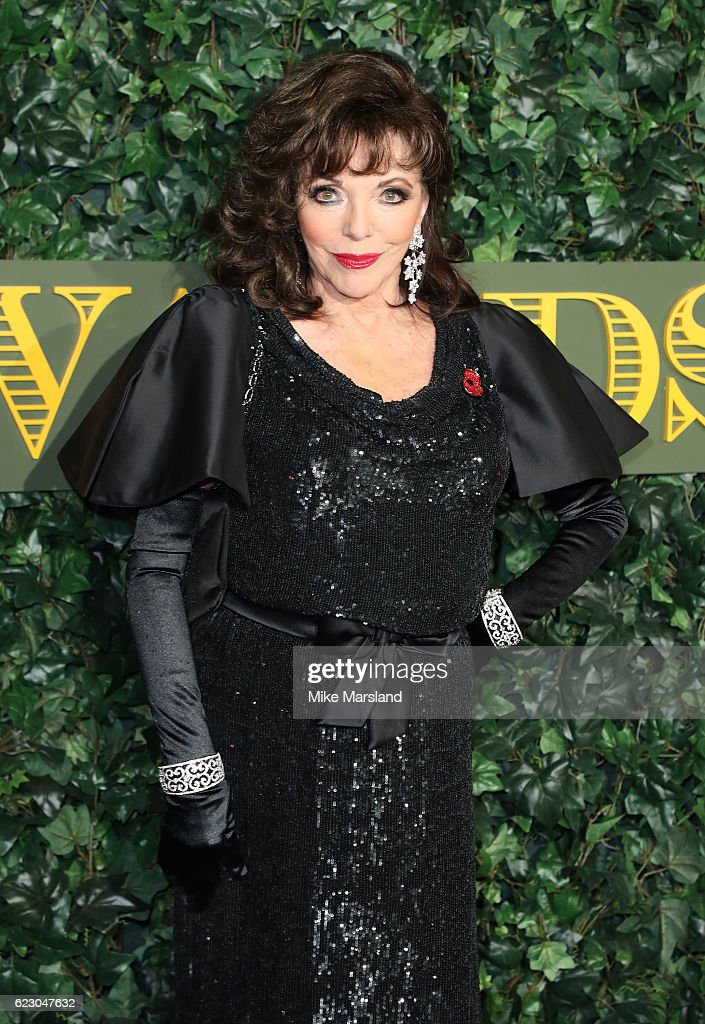 Joan Collins attends The London Evening Standard Theatre Awards at The Old Vic Theatre on November 13, 2016 in London, England.