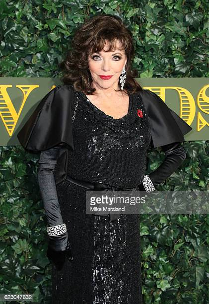 Joan Collins attends The London Evening Standard Theatre Awards at The Old Vic Theatre on November 13 2016 in London England